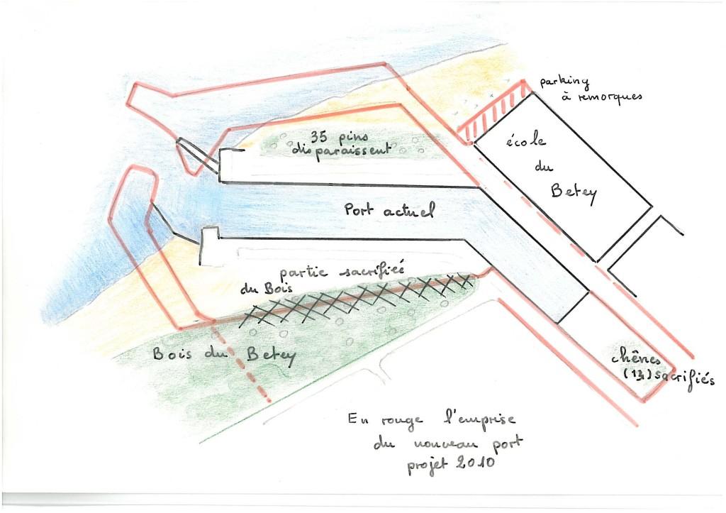 le betey, extension du port de plaisance