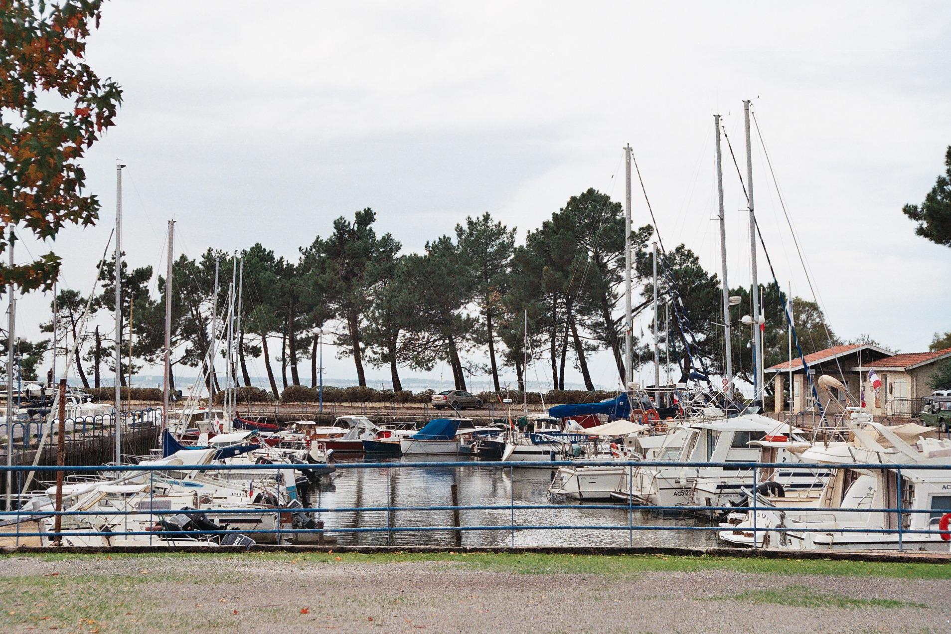 le port de plaisance du Bétey et les arbres du fond qui devaient disparaître