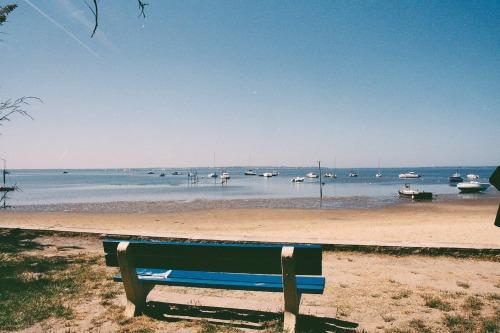 Marée montante, plage boisée du Bétey 2013
