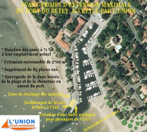 """projet de la liste """"L'union pour Andernos"""" 2014"""